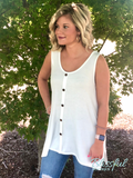 Ivory Button Down Sleeveless Top