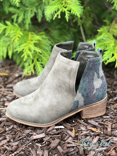 Olive & Camo Mixed Bootie