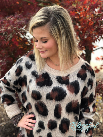 Brushed Leopard Sweater