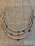Beaded Layered Short Necklace