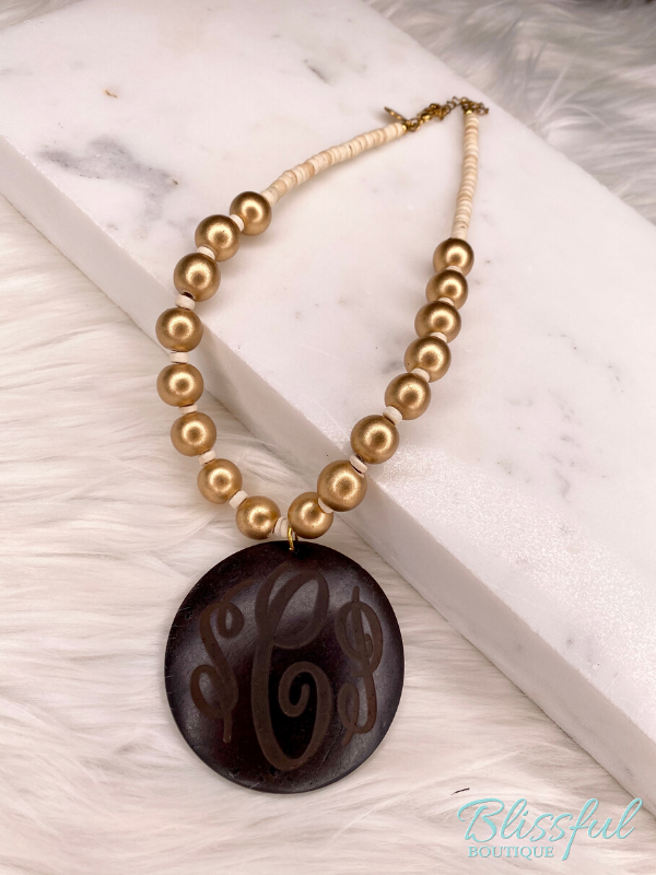 Coco Monogram Necklace