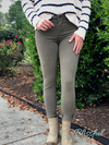 Light Olive Skinny Denim