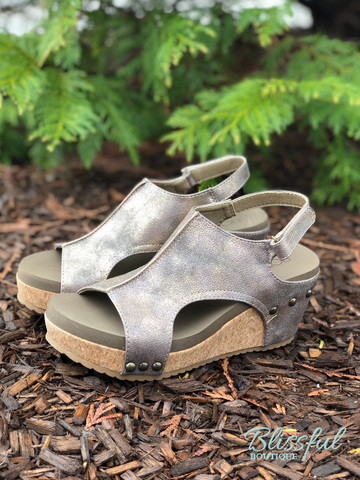 Bronze Wedge Sandal