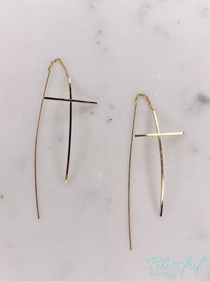 Cross Thread Earrings