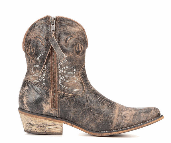 Adobe Distressed Short Cowgirl Boot - Blissful Boutique