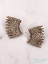 Leather Wing Earrings