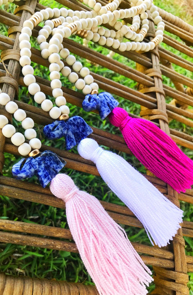 Elephant Tassel Necklace