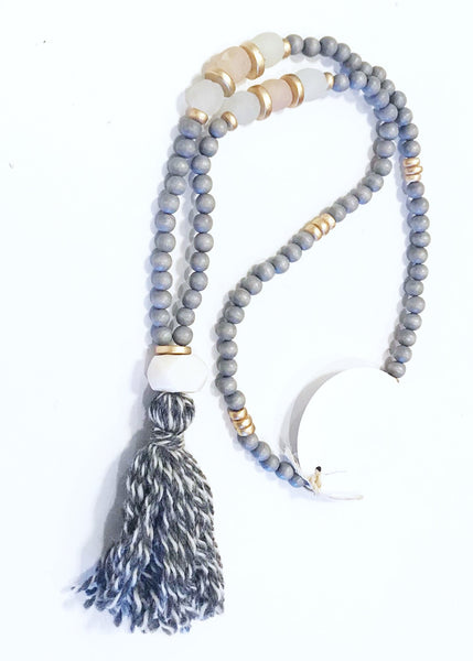 Yarn Tassel Necklace