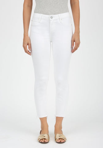 White Skinny Cropped Denim