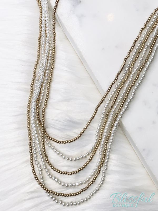 White & Gold Necklace