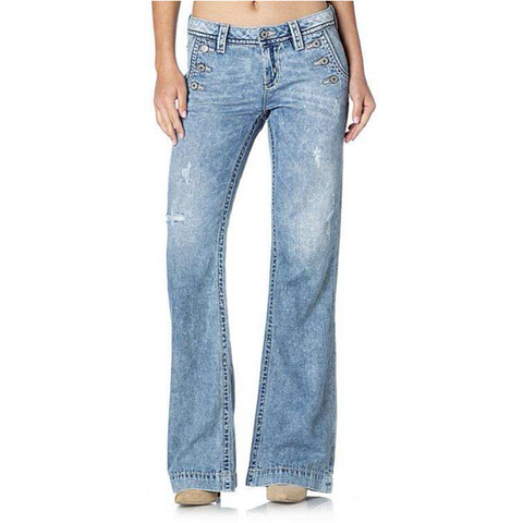 Wide Leg Mid-Rise Miss Me Jeans
