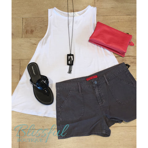 Charcoal Belle Shorts