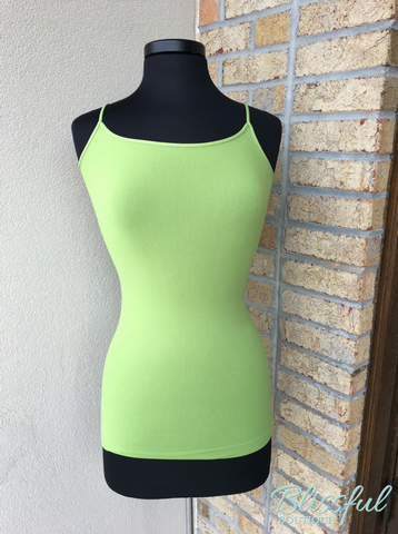Apple Green Long Cami