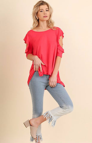 Strawberry Open Sleeve Top