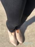 Black Fleece Lined Leggings, L/XL