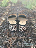 Leopard Slide-On Shoe w/ Heel