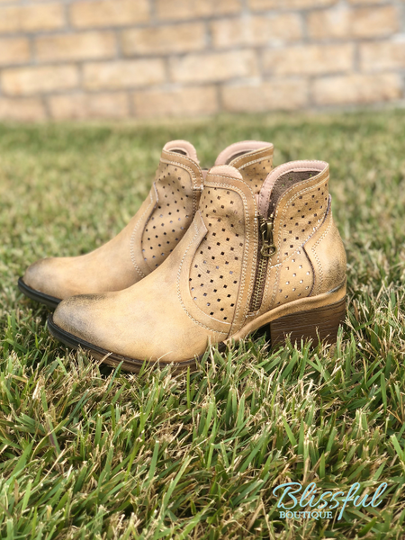 Natural Perforated Bootie