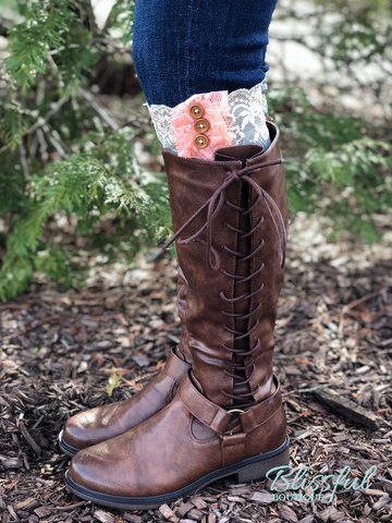 Lace & Button Boot Toppers