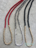 Glass & Metal Strand Necklace