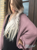 Mauve Sweater Cocoon Cardigan