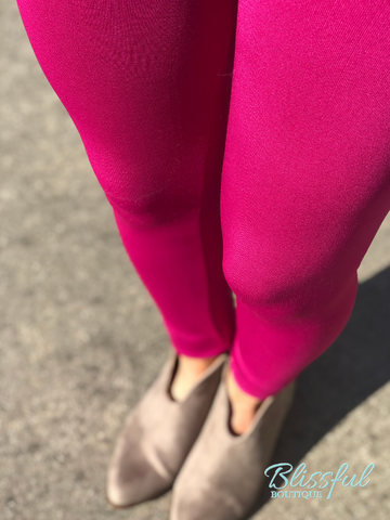Berry Fleece Lined Leggings