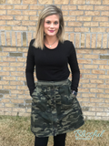 Camouflage Printed Mini Skirt