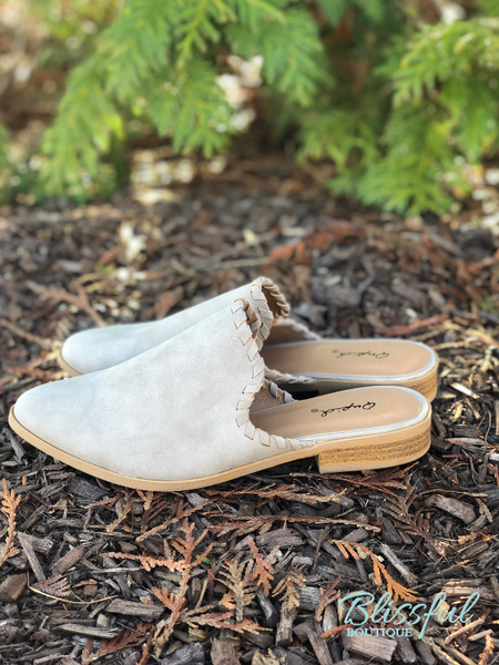 Taupe Slide-On Mule