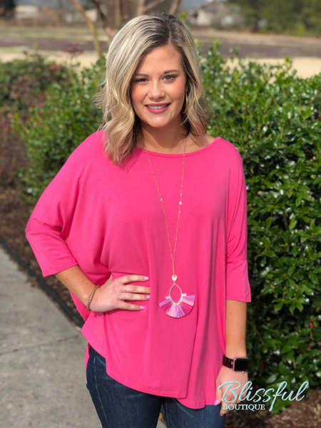 Coral 1/2 Sleeve Bamboo Tunic