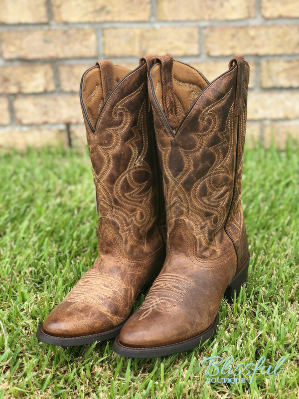 Laredo Maddie Distressed Cowgirl Boots