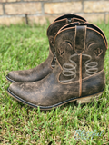 Adobe Distressed Short Cowgirl Boot