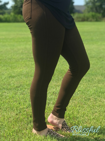 Chocolate Jeggings PLUS