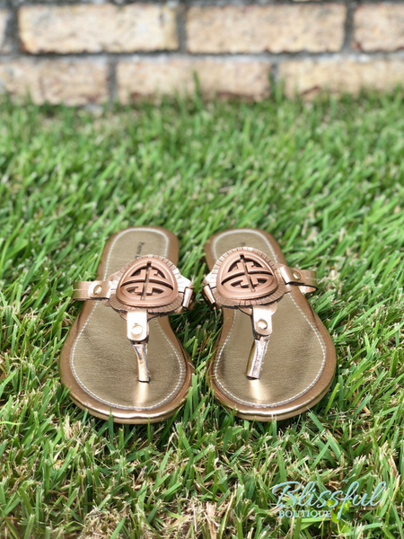 Rose Gold Inspired Sandals