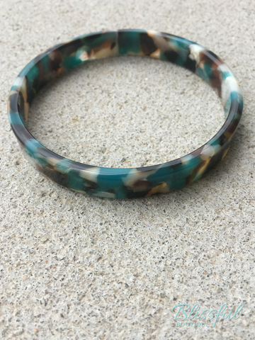 Small Tortoise Bangle Bracelet