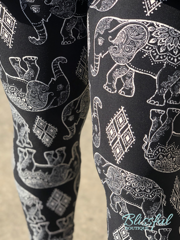 PLUS Elephant Printed Leggings