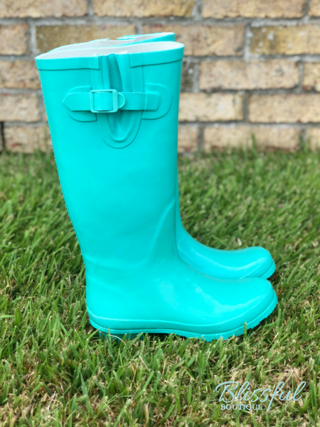 Mint Tall Rainboots