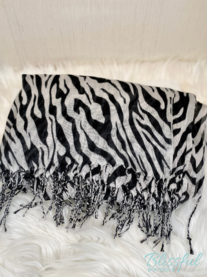 Black & White Zebra Scarf