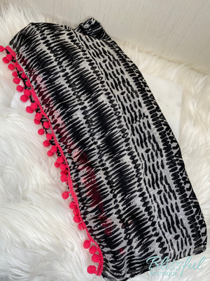 Black & White Color Splash Scarf