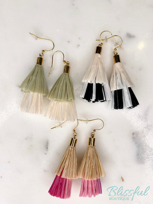 Lana Rafia Tassel Earrings