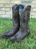 Black & Tan Crackle Laredo Boot