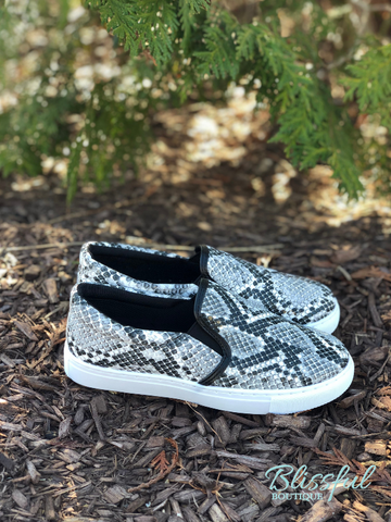 Snakeskin Printed Fashion Sneakers