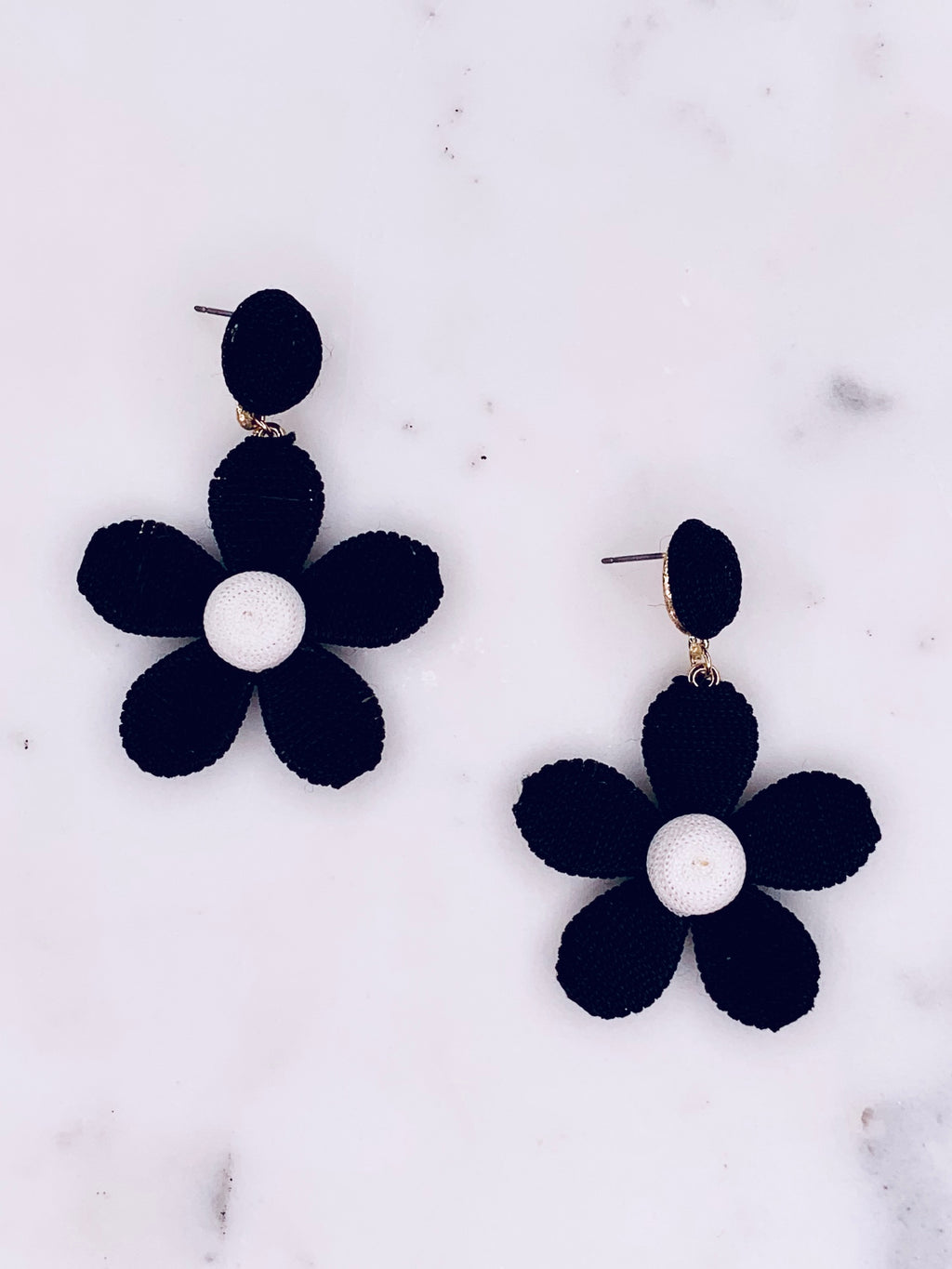 Thread Flower Earrings