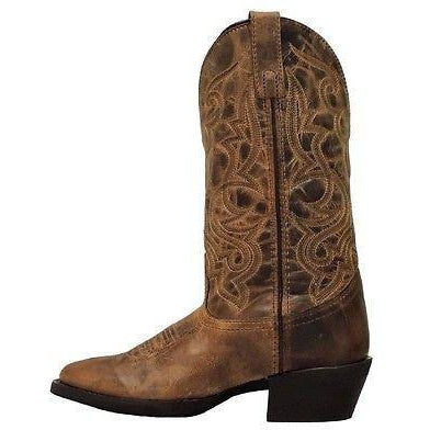 Tan Distressed Cowgirl Boots