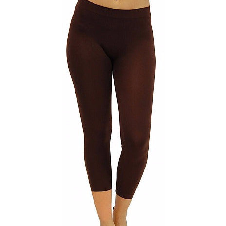 Brown Crop Leggings