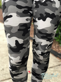 Grey Camo Printed Leggings