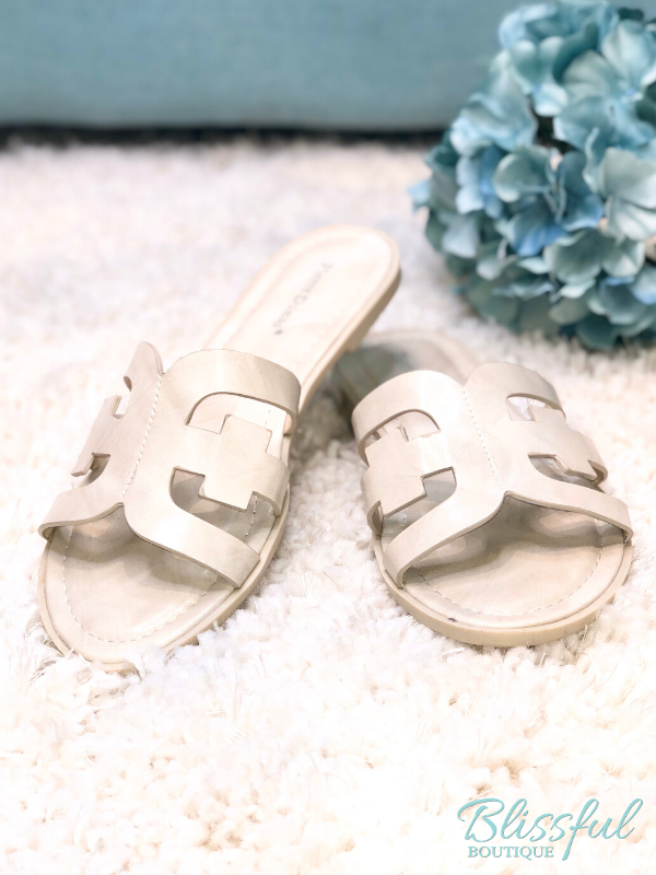Nude Inspired Slide Sandal