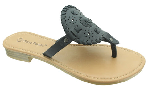 Black Round Jack Rogers Inspired Sandals