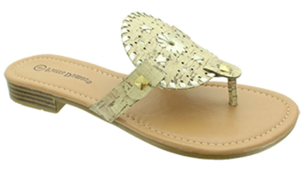 Cork Round Jack Rogers Inspired Sandals