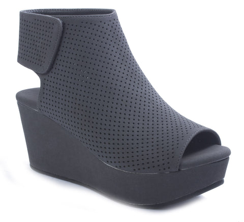 Grey Suede Wedge