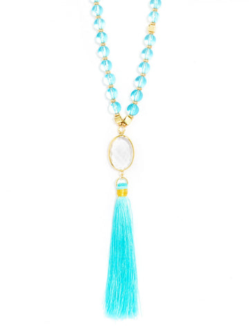 Clearly Fringed Necklace
