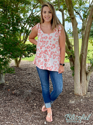 Blush Animal Print Sleeveless Top